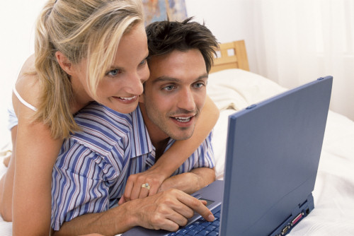 Young Couple playing Romantic Game